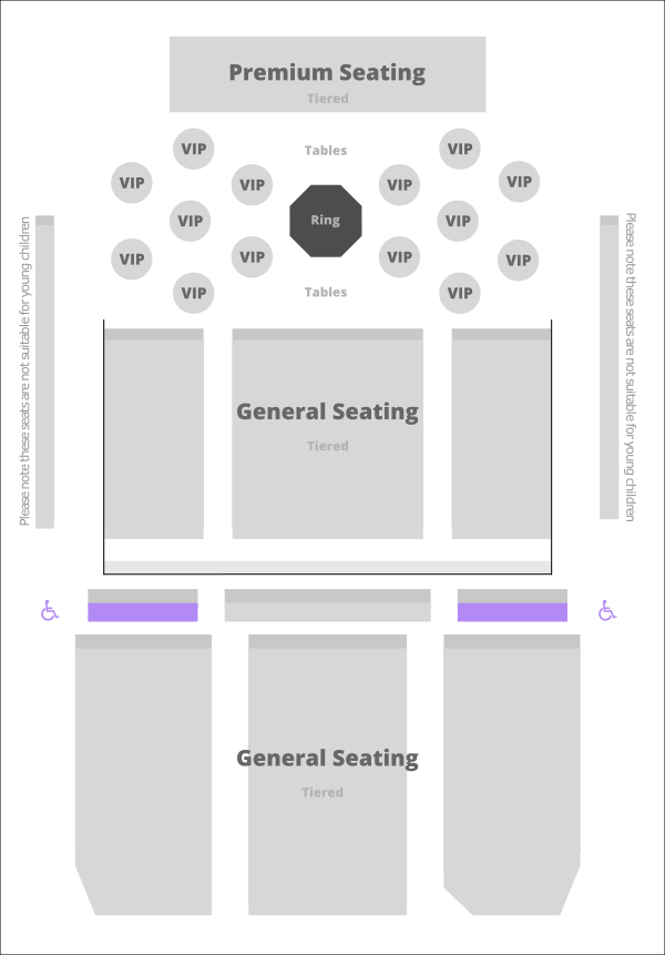 G-Live Combat Performance Seating Plan